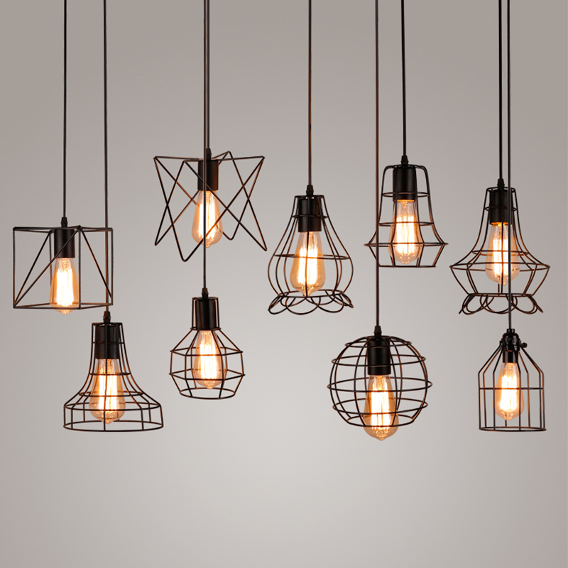 Metal Cage Pendant Light Hanging Lamp