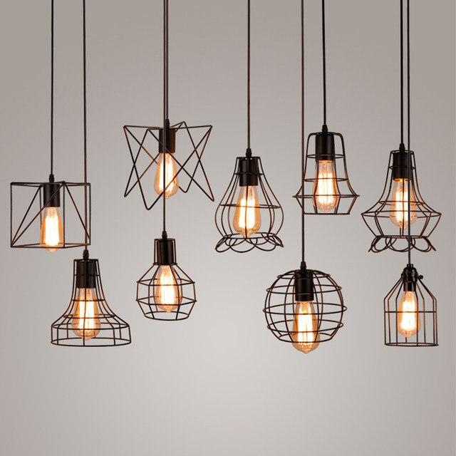 online shop vintage industrial metal cage pendant light hanging lamp