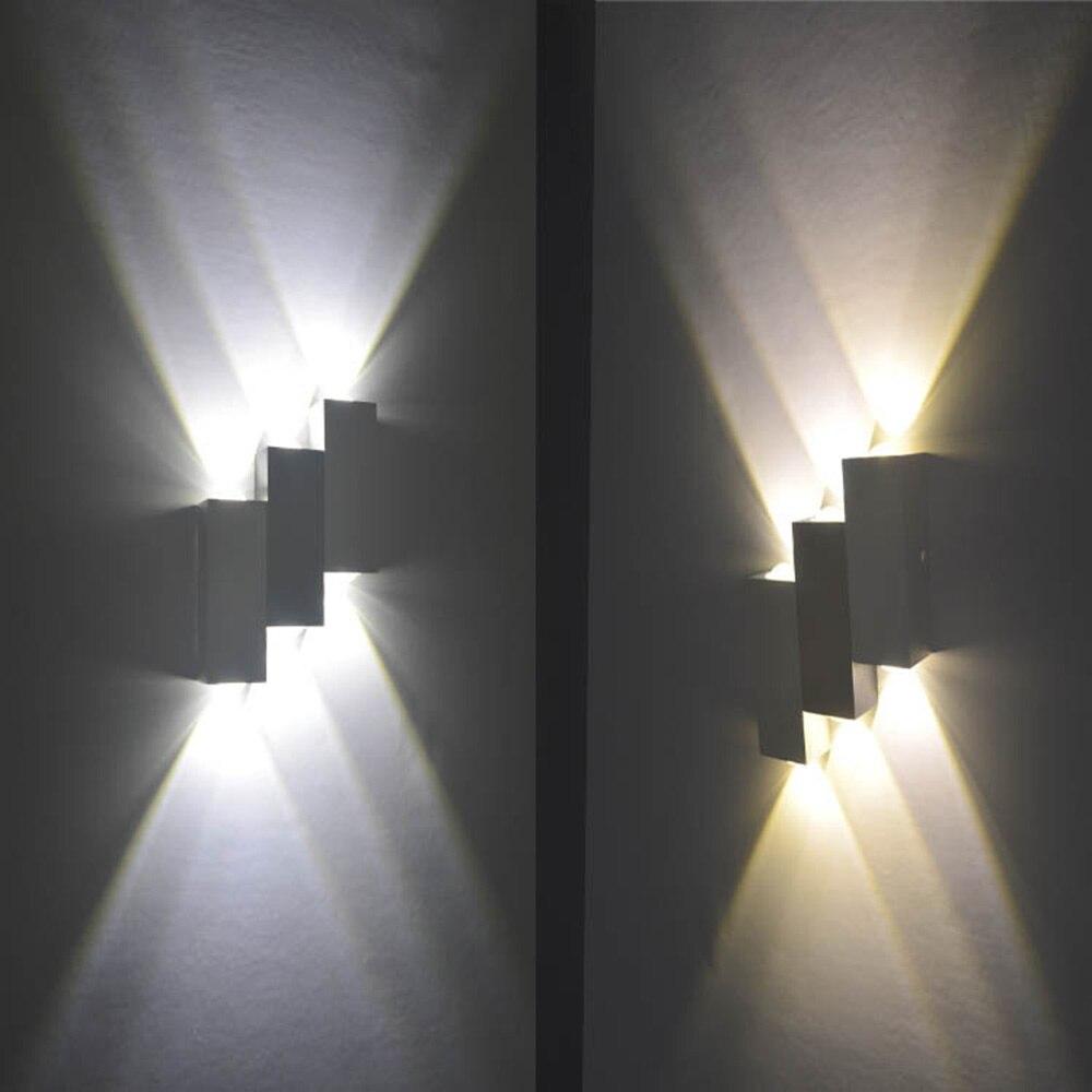Светодиодный светильник настенный 6 Вт форма полосы настенный Крытый свет AC85-265V высокое качество и Подпушка для гостиной номер настенный св...