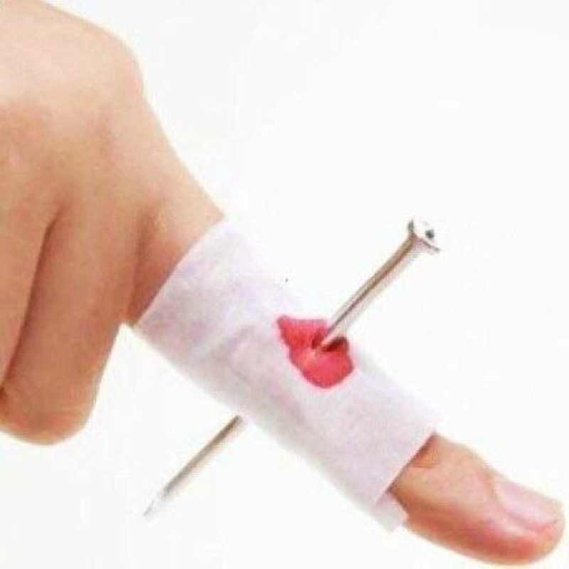 Nail Through Finger: Bloody Nail Through Finger Wear Refers To Nail Scary Toy