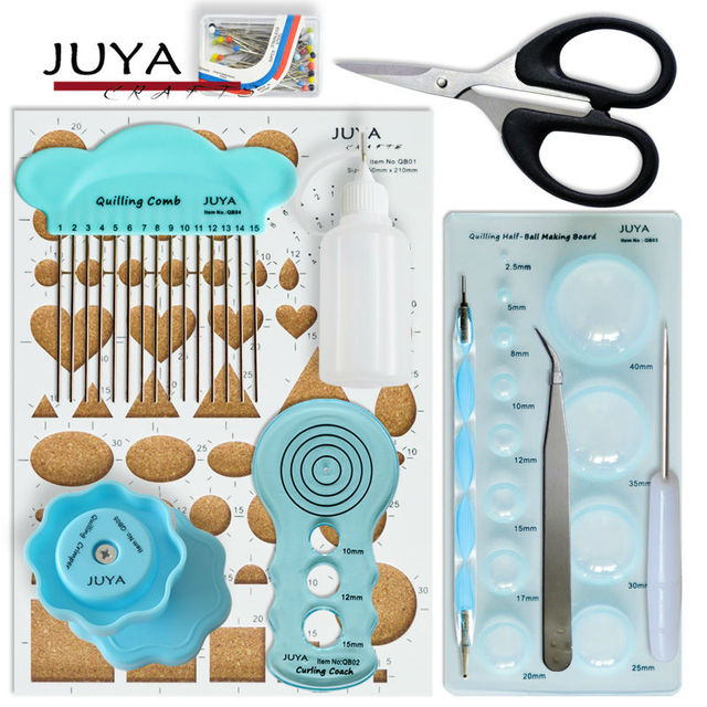 Juya Advanced Paper Quilling Tools Kits with Board, Slotted, and Others