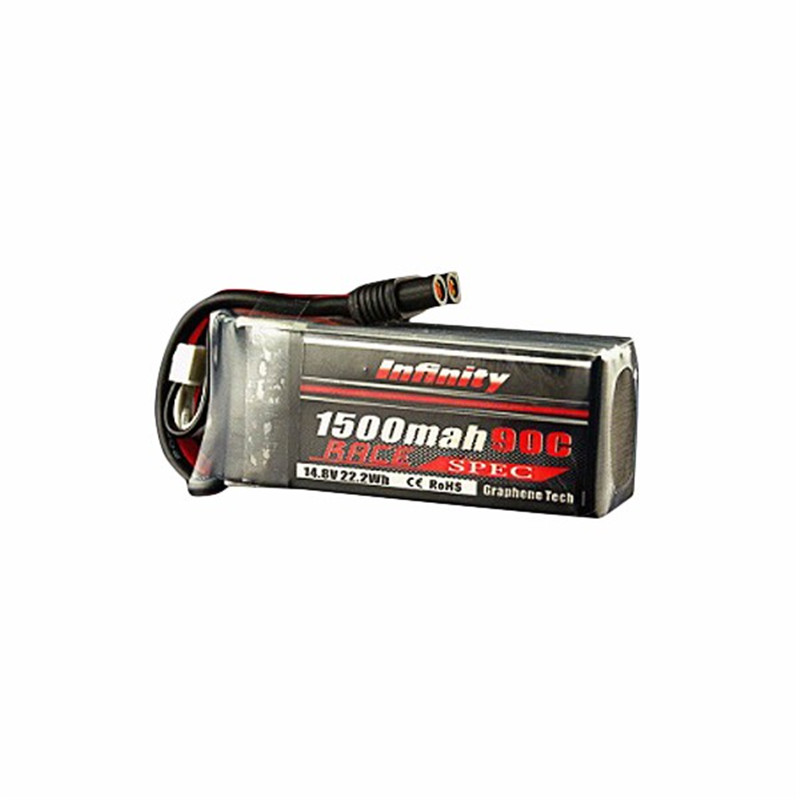 High Quality Infinity 1500mah 14.8V 90C 4S1P Race Spec Rechargeable Lipo Battery RC Quadcopter Multirotor Spare Part PowerHigh Quality Infinity 1500mah 14.8V 90C 4S1P Race Spec Rechargeable Lipo Battery RC Quadcopter Multirotor Spare Part Power