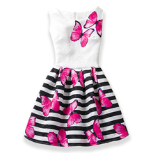 Girl's Party Sleeveless Printed Dresses