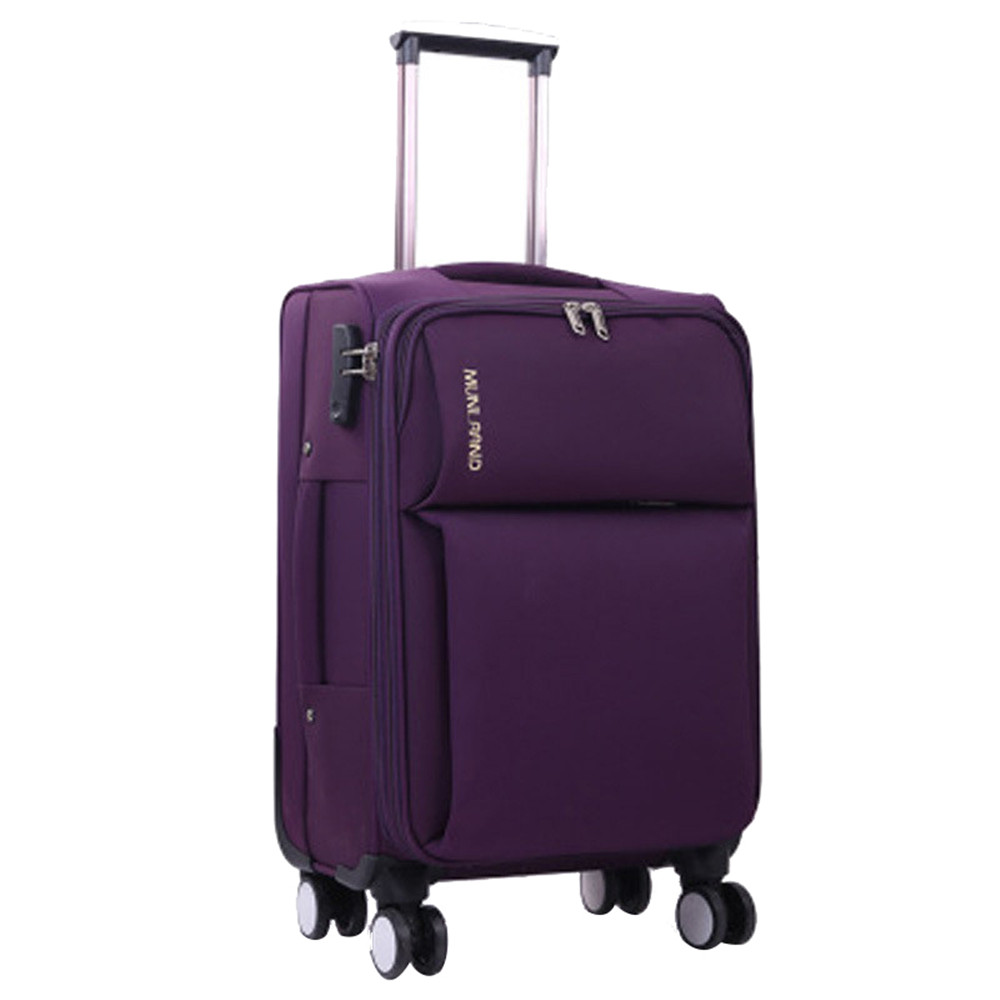 20 inch Men Rolling Luggage Spinner Travel Bag Suitcases Wheel Trolley Business Carry On ...