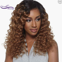 Dream Beauty Glueless 150% Density kinky Curly Lace Front Human Hair Wigs Pre Plucked Brazilian Remy Hair Bleached Knot