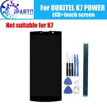 6.0 インチ oukitel K7 パワー lcd ディスプレイ + タッチスクリーン、 100% オリジナルのテスト液晶スクリーンデジタイザガラスパネルの交換 K7 電源