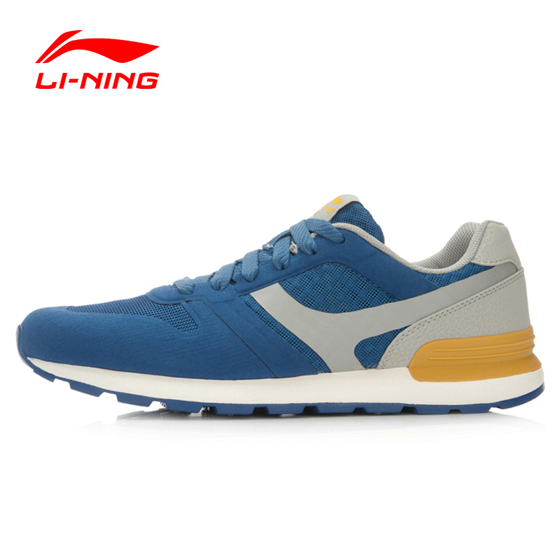 ФОТО Li-Ning Men's Glory Classic Running Shoes Retro Sneakers Breathable Footwear Cushioning Sports Shoes ARCL013 XYP459