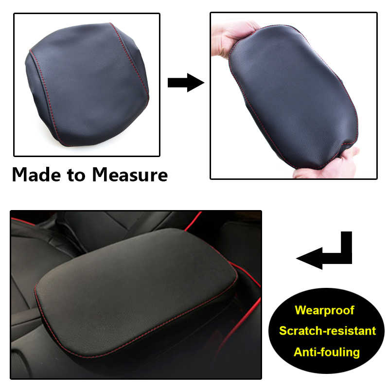 For Hyundai Kona/Encino/Kauai 2017 2018 2019 Car Central Armrest Box Cover Center Console Protection Case Microfiber PU Leather