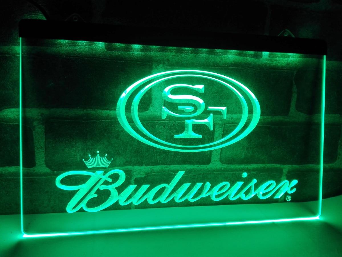 Ld287 San Francisco 49ers Budweiser Nr Led Neon Light Sign Home Decor Crafts China