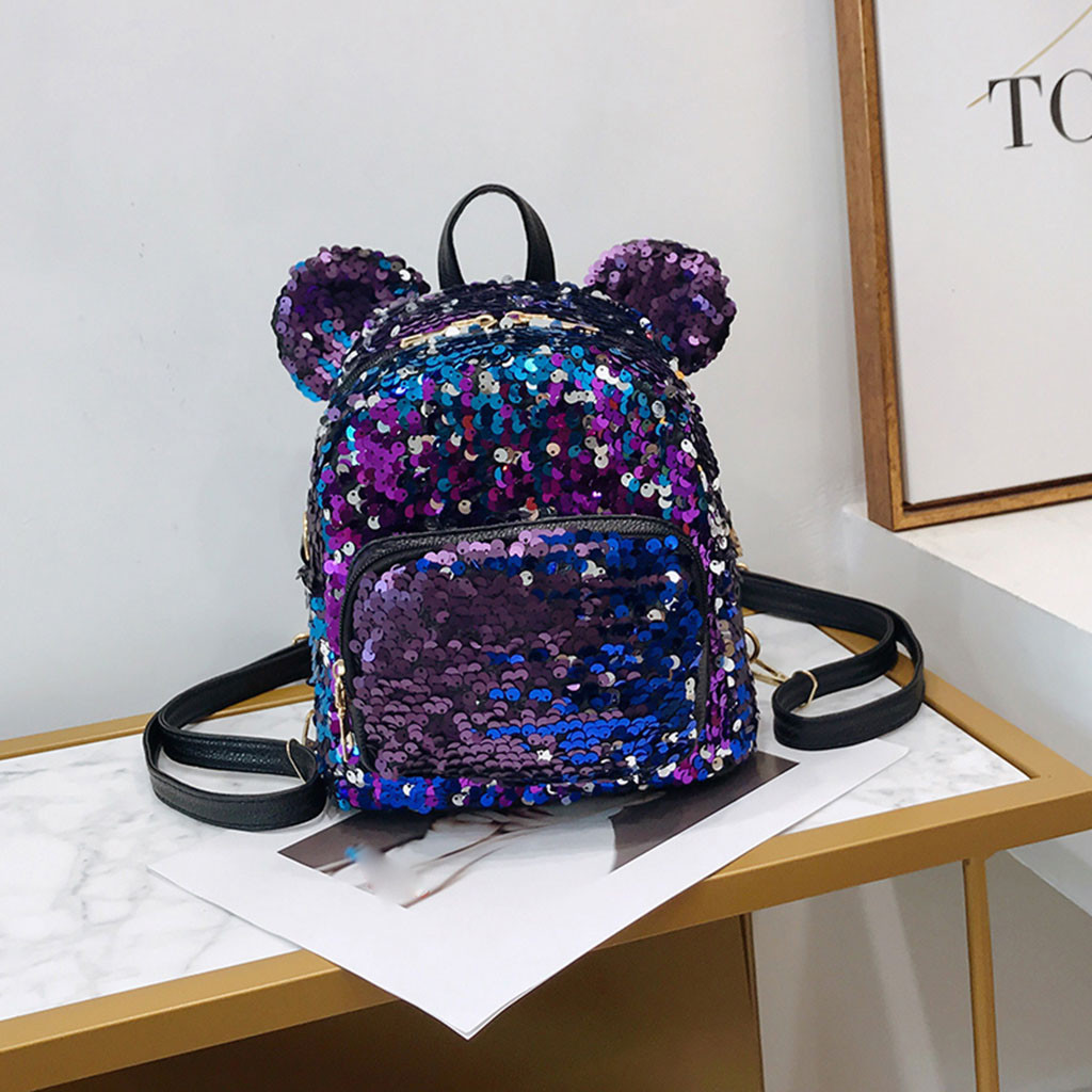 Shining Women Sequins Backpacks Teenage Girls Travel Large Capacity Bags Portable Party Mini School Bags Shoulder Bag for LadyShining Women Sequins Backpacks Teenage Girls Travel Large Capacity Bags Portable Party Mini School Bags Shoulder Bag for Lady