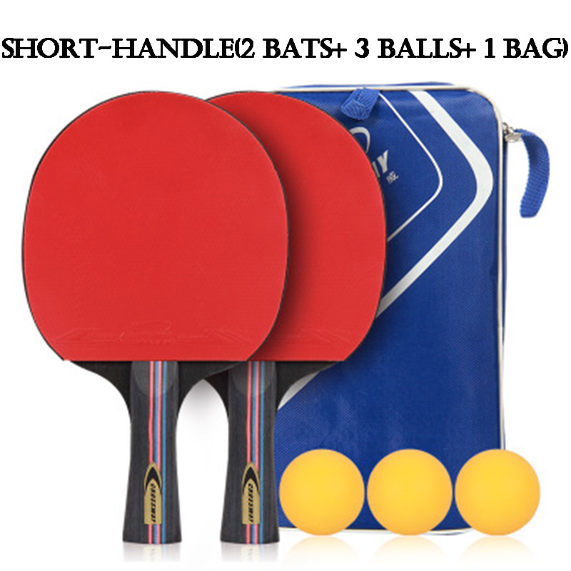 Table Tennis Racket Professional Horizontal Double Grip Ping Pong Case Bag Ball Set Bat Training Competition Sport Entertainment