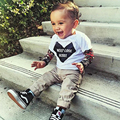 Winter New Fashion baby boys girls Rock Design tattoo arm sleeve kids T-shirts for 6M-6 Years old