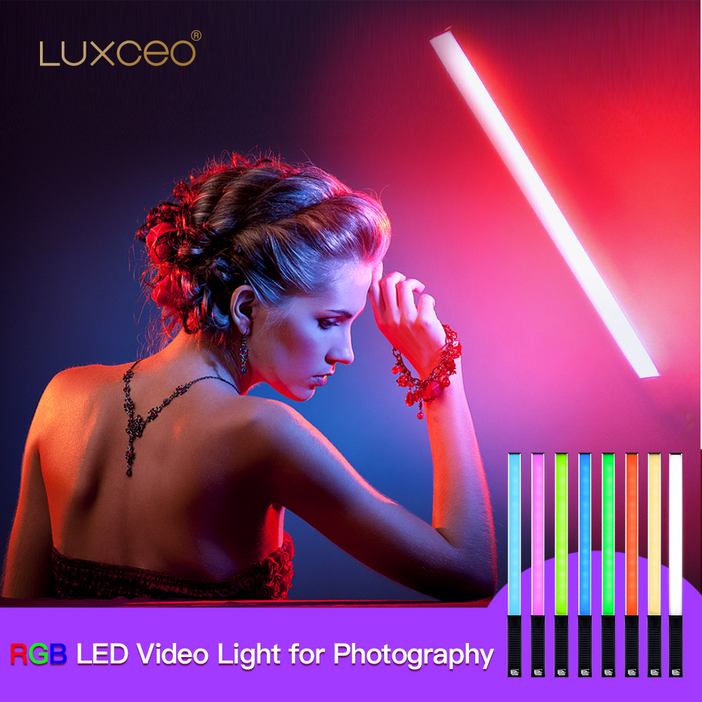 Led Video Light Rgb Full Color Cri95 1000lux Usb Rechargeable Photography Light For Studio Outdoor Photography Video Recording