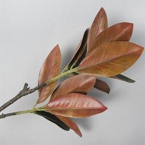 Image 3 - Flone 2 rama Magnolia artificial de ramo de simulación Real Touch Magnolia de planta de flor boda fiesta en casa decoración Floral