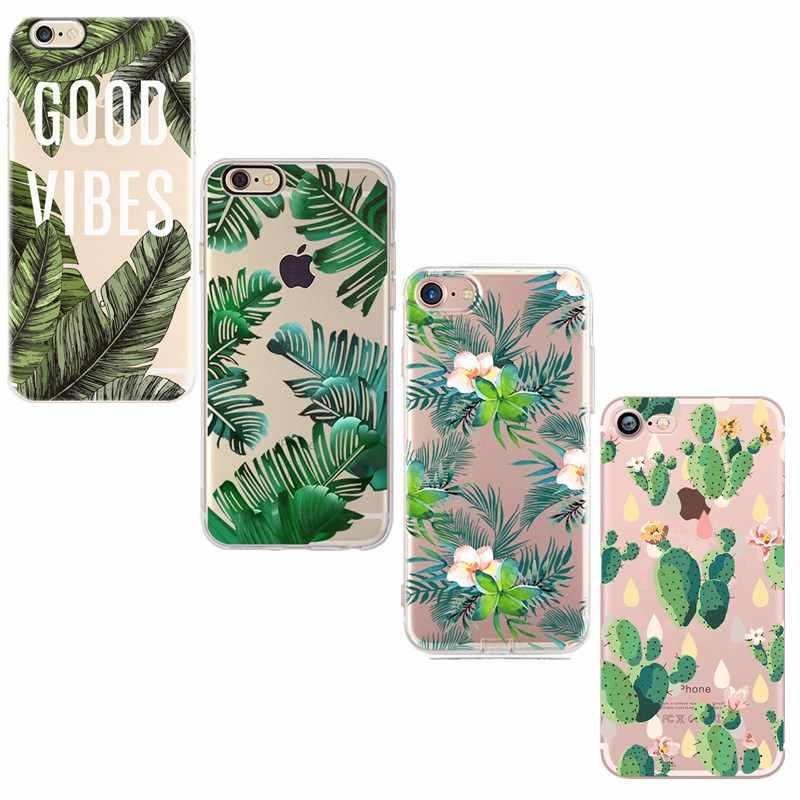 Silicone Cover Couple Case For iPhone X 6 6S 7 8 Plus 5 5S SE 10 XS Lover Plant Cartoon Pattern Phone Cases Back Shell Capa