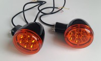 Rear Turn Signals Lights W/Short Brackets For Harley Sportster XL 883 1200 92 16