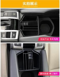 Image 3 - จัดแต่งทรงผม ABS พลาสติกเซ็นทรัลกล่องเก็บถ้วยสำหรับ Honda New Civic 10th 2016 2017 2018 กล่องอุปกรณ์เสริม