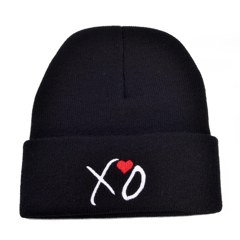 fashio XO Letter   beanies   cap print hip-hop winter warm cap street leisure   Skullies   knitted hat   Skullies   &   Beanies