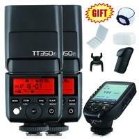 2x Godox Мини tt350f tt350 2.4 г TTL Камера Вспышка Speedlite + XPro F триггера передатчик для Fuji xt20 XT2 xa1 xt10 xa2