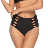 New 2019 sexy Designer Bow Single piece swimming trunks swimwear women bathing suits beach wear black high waist Bikini bottoms