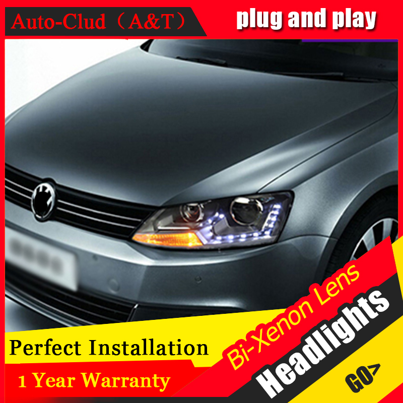 Auto Clud 2011 2014 For vw jetta mk6 headlights car styling For vw jetta head lamps