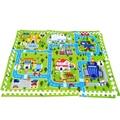 60*60 cm * 6 pcs Enigma Esteira do Jogo Do Bebê, Divisão Conjunta Rastejando Game Pad Tapete de Espuma EVA Crianças educacionais Crianças Brinquedos Tapete Playmat B411
