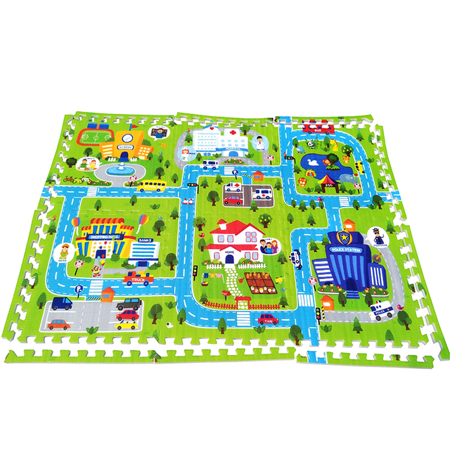 pad educational foam toys with product rug route online puzzle kids on crawling store mats playmat eva traffic game joint mat split baby play carpet children set