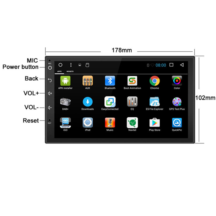 7 1 quot Universal 1DIN Android 8 1 Touch Screen 1RAM 16G ROM Car Stereo Radio FM RDS SWC BT Wifi in Car MP4 amp MP5 Players from Automobiles amp Motorcycles