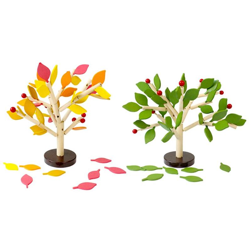Kids Wooden Assembled Tree Puzzle Toys Gift Wood Assemble Tree Model Building Kits Children Montessori Learning Educational Toy