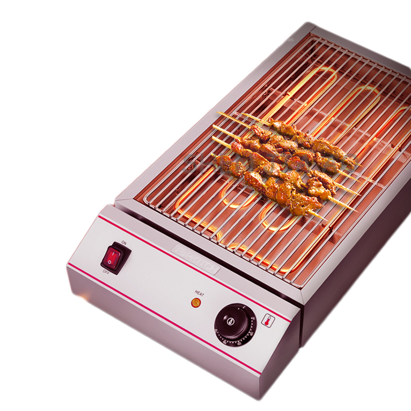 220V 2.8KW 1PC Household smokeless electric barbecue machine electric barbecue grill healthy smoke-free iron plate heating mastering barbecue