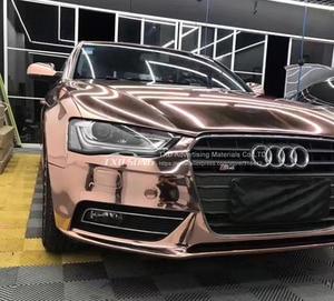 Image 4 - 50CM * 1 M/2 M/3 M/4 M/5 M רול רכב סטיילינג גבוהה stretchable מירור רוז זהב Chrome מירור ויניל לעטוף גיליון רול סרט רכב מדבקה