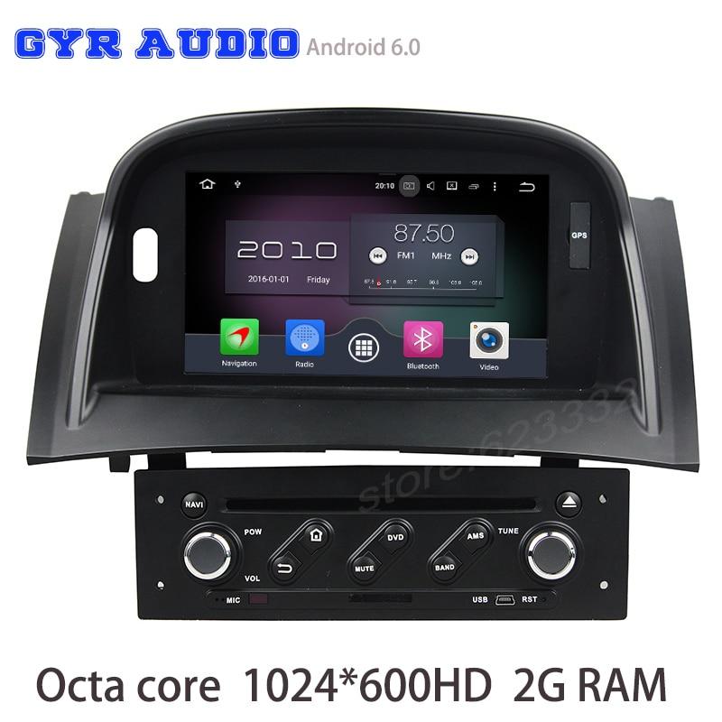 buy octa core android 6 0 car dvd radio for renault megane 2 ii fluence 2003. Black Bedroom Furniture Sets. Home Design Ideas