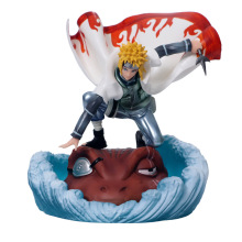 Anime Naruto Shippuden Namikaze Minato Gama-Bunta GK PVC Action Figure Statue Collectible Model Kids Toys Doll Gift 19CM