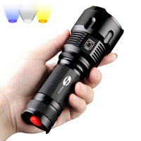 SHENYU LED Flashlight 26650 Zoom Torch Waterproof T6 2000LM 3 Mode Light For 3x AA or 3.7v Battery