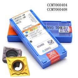 50 sztuk CCMT060204 CCMT060208 PC9030 NC3030 Korloy CNC toczenie wkładki z węglika nadaje się obróbki stali S06K-SCLCR06 SCLCL06