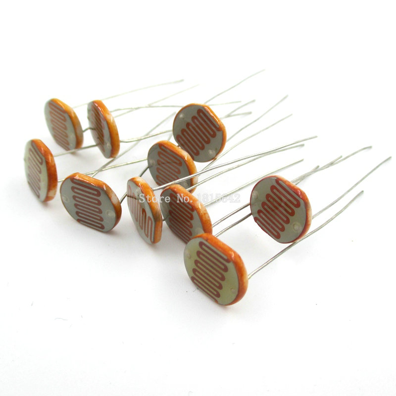 5PCS 12528 Light Sensitive Resistor 12mm Photoresistor Resistor GL12528 LDR Dependent Resistance