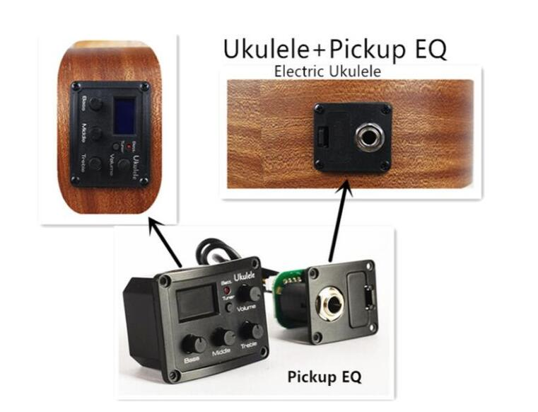 Ukelele recoger EQ instalado como un eléctrico Ukelele 21 23 26 pulgadas Ukelele espectáculo Acústico mini Guitarra, guitarra uk002