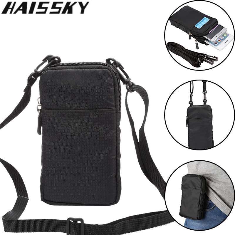 "Haissky 6.0 ""Universal Waterproof Running Sport Phone Pouch Case για iPhone 7 6 6S Plus 5 5S Samsung S8 S7 edge S6 S5 Μέση τσάντα"
