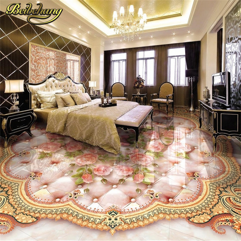beibehang Custom Rose marble Papel De Parede 3D wallpaper for Living Room Bathroom Mural Floor tiles Wall paper contact paper self adhesive wall paper furniture marble 3d wallpaper waterproof wall mural papel bathroom kitchen papel de parede adesivo