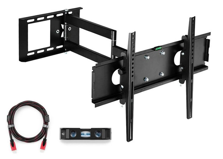 "Фото Articulating TV Wall Mount Bracket for 26""-55""LCD LED Plasma 3D TV with VESA up to 400x400, Full Motion Tilt Swivel long arm"
