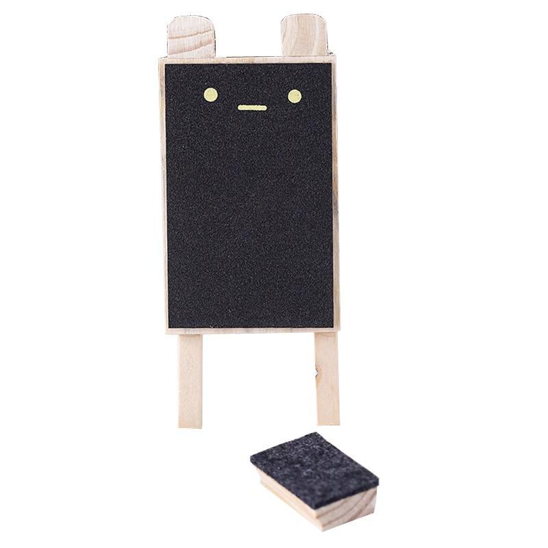 Creative Cute Small Blackboard Mini Foldable Wooden Message Board Sign Chalkboards Insert Label Price Flower Gardening Ornament