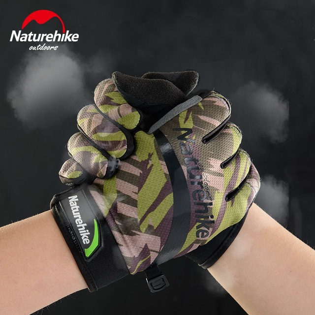 Naturehike masculino ultra-fino resistente ao desgaste telefingers escalada luva feminina dedo cheio impresso tela sensível ao toque luvas de ciclismo 2