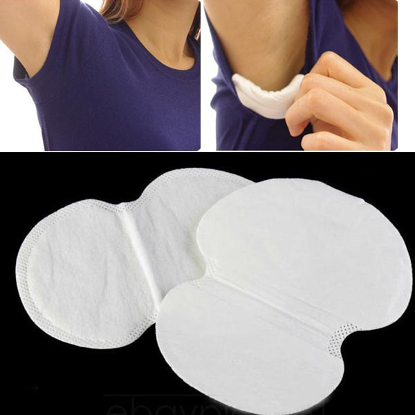 100Pcs Summer Deodorant Stop Underarm Sweat Guard Pads Armpit Sheet Liner Dress Clothing Shield Absorbing Sweat Antiperspirant