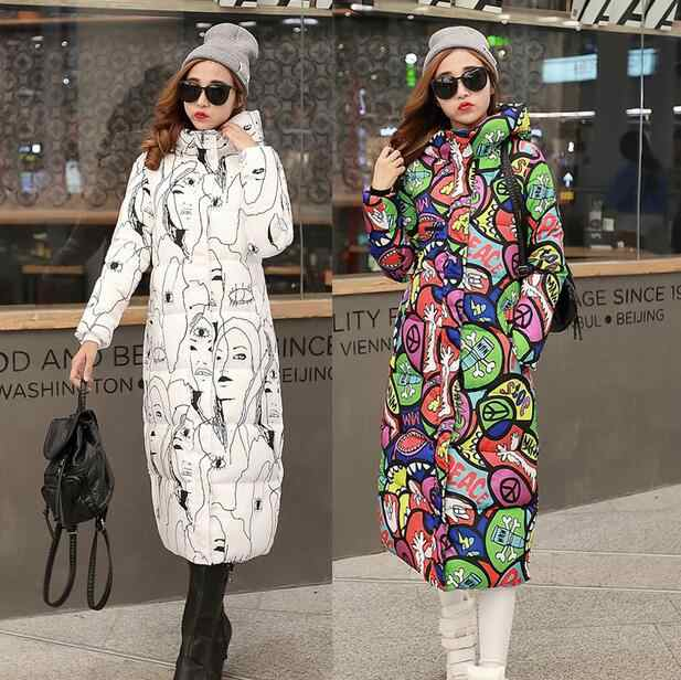 100Kg Wear 2019 New Winter Women Wadded Long Coat Plus Size 6XL Female Hooded Down Cotton Padded Puffer Jacket Parka Outwear L02