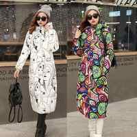 100Kg Wear 2019 New Winter Women Wadded Long Coat Plus Size 6XL Female Hooded Down Cotton Padded Puffer Jacket Parka Outwear L02