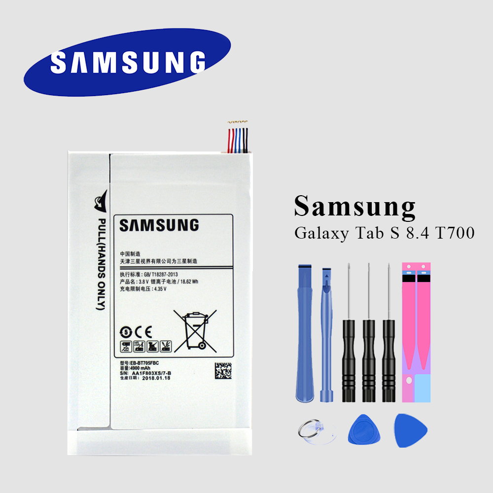 Tablet Battery For Samsung GALAXY Tab S 8.4 SM-T700 T701 T705 EB-BT705FBC EB-BT705FBE