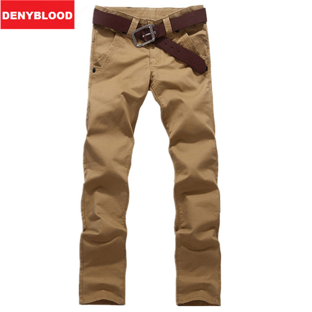 2016 New Arrival Plus Size 28~46 Mens Casual Pants Straight Stonewashed Male Twill Trousers Khaki  Black Army Green Chinos 868