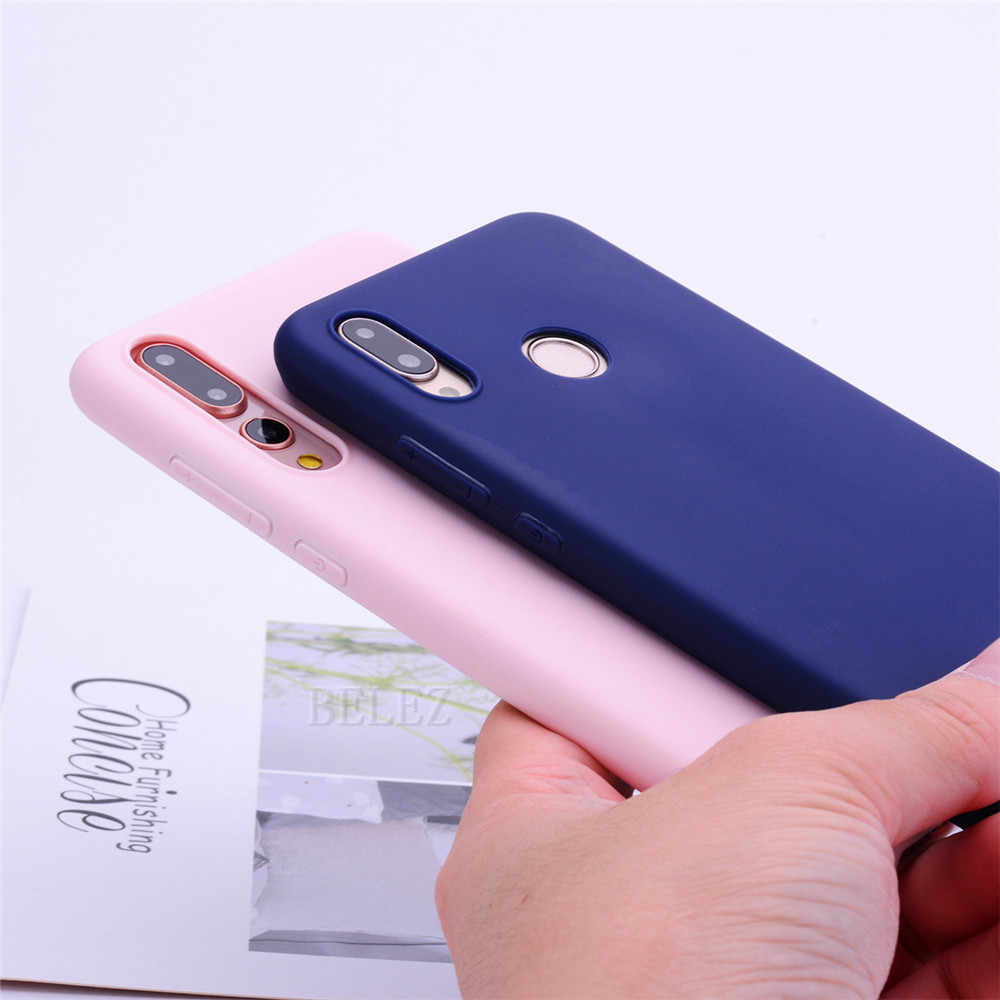 Şeker Renk Kılıfı Için Huawei P Akıllı 2019 P30 Pro P20 Mate 20 Lite Pro Y9 Y6 2018 Onur 8C 8X Max 10 7A 7C Nova 3i 3 TPU kapak