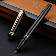 Metal Hero Fountain Pen Classic Black Pen Authentic Iraurita Extra Fine 0.38mm Smooth Financial Office Student Gift Ink Pen authentic picasso art palace fountain pen 907 signing pen ink device business calligraphy pen iraurita 0 5mm f birthday gift