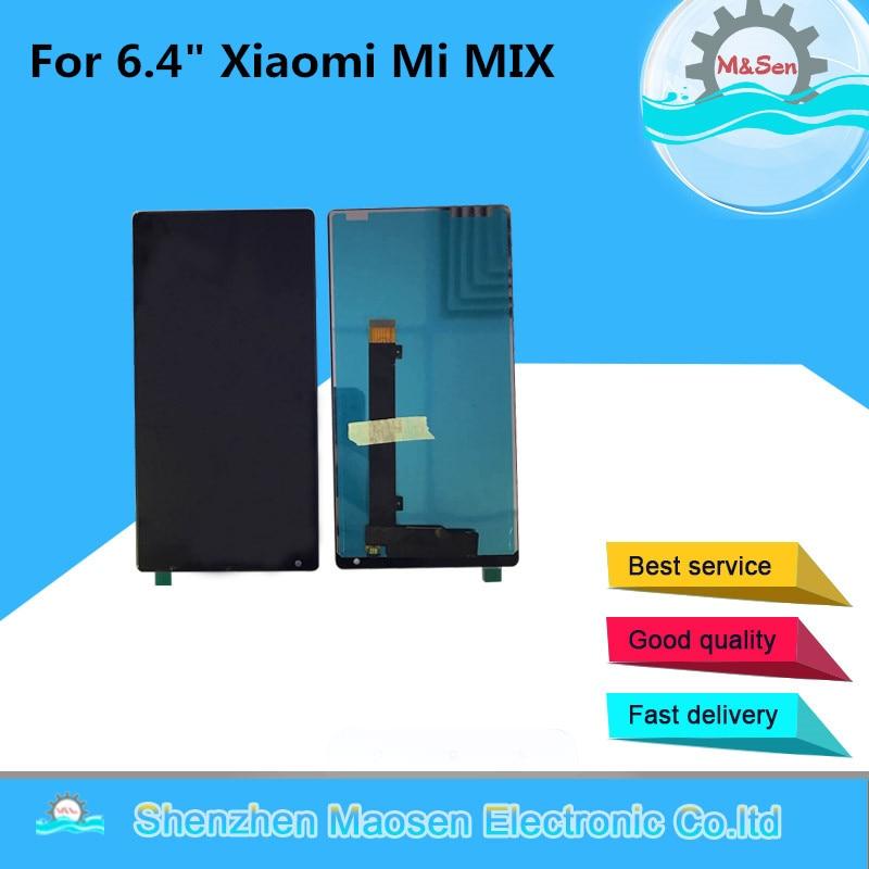 """imágenes para M & Sen Para 6.4 """"Xiaomi mi MEZCLA de Visualización de la pantalla Lcd + el panel de Tacto digitalizador de color negro el envío libre"""